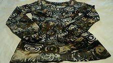 Karen Kane Long Sleeved Top, Blouse, Shirt Women's, Ladies, Brown Designs