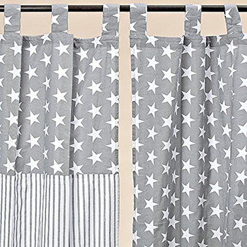 Inspirational Vorhang Schlaufenschal Gardine Stern Streifen Baumwolle grau weiss cm Streifen