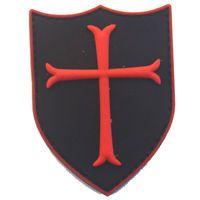 Crusade Military Order Knights Templar Cross Shield Insignia Morale Emblem Patch