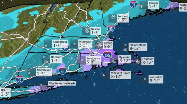 Meteorologist Danielle Banks forecasts the effects of winter Storm Helena in Boston and New England.