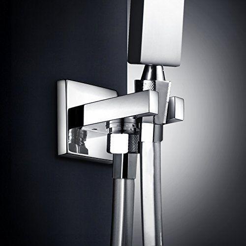 SR SUN SRISE Solid Brass Shower Head Bracket Holder Wall Mount, Chrome >>> Read more  at the image link.
