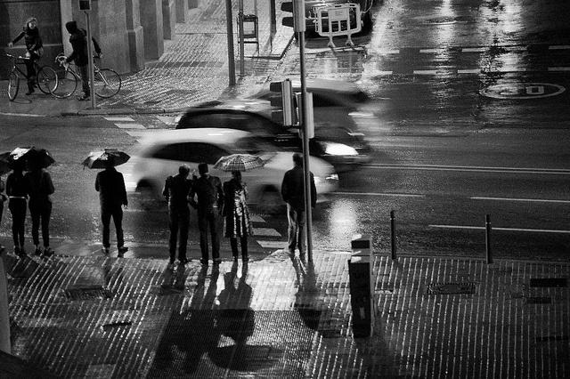 Lluvia en Barcelona by Sergi Bernal. 2012.