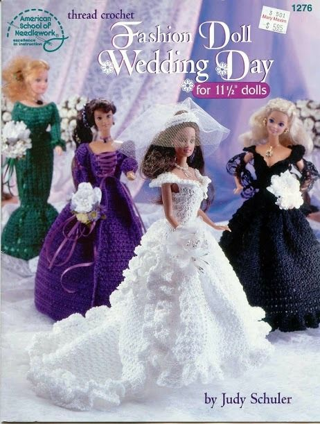 CROCHET: Barbie, Fashion Doll Wedding Day,pattern http://knits4kids.com/collection-en/library/album-view?aid=26434