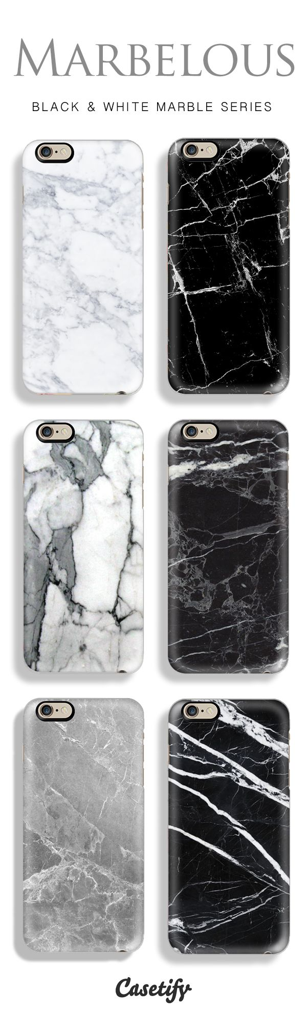 Top 6 marble iPhone 6 protective phone cases | Click through to see more black and white marble iphone phone case ideas >>> http://www.casetify.com/marble-iphone-case | @casetify