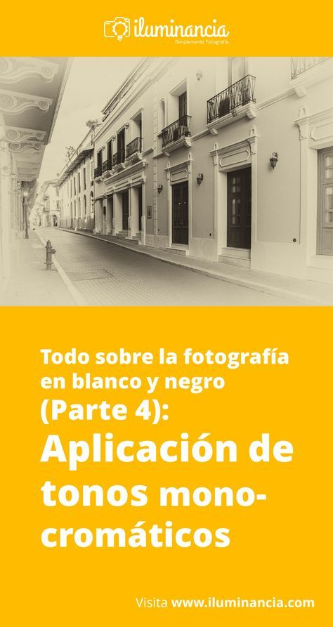 Fotografía en blanco y negro (4): Aplicación de tonos monocromáticos ...