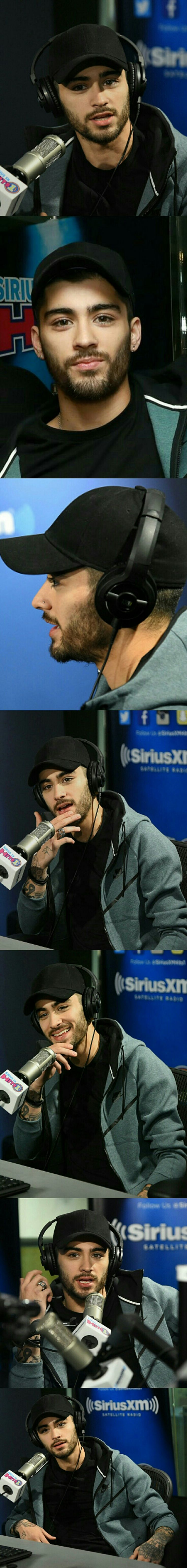 Zayn Malik ❥ at a radio station for an interview  #Zayn Malik