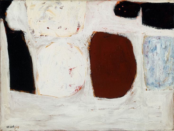 William Scott, Painting, 1959, Oil on canvas, 46 × 61 cm / 18 × 24 in, Private collection