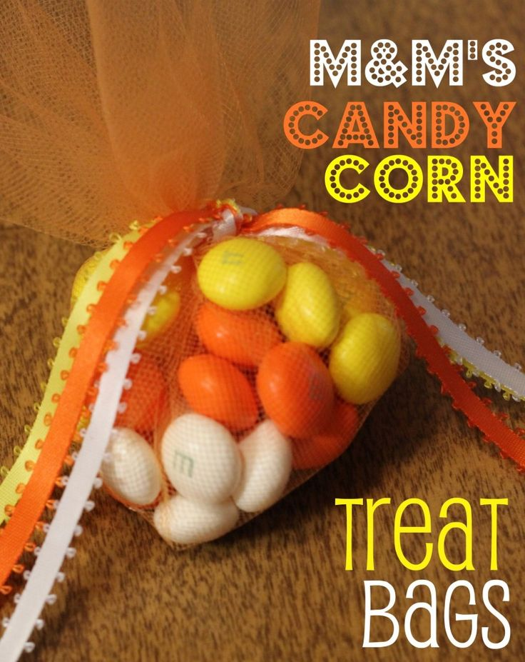 Candy Corn White Chocolate Candy Treat Bags