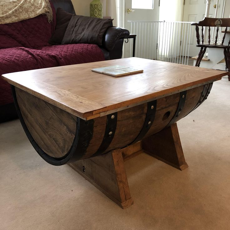 Half Barrel Coffee Table For The Wife Coffee Table Wood Table Diy