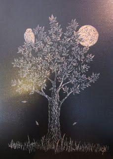 Árbol de la Vida VII, tallografía, @copyright Carolina Busquets.