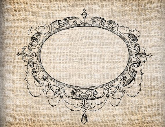 Antique Blank Fancy Ornate Victorian Frame by AntiqueGraphique, $1.00