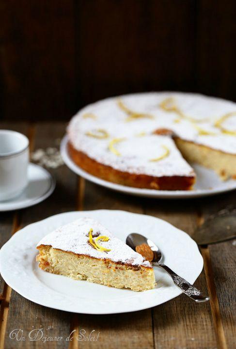 Gâteau de riz italien (Torta di riso) aux amandes et au citron