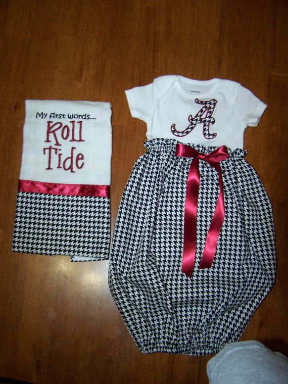 Baby Gown With Burp Cloth