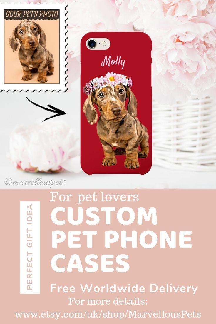 Custom Dog Illustrated Phone Cases Gift For Dog Lover Dog Gift
