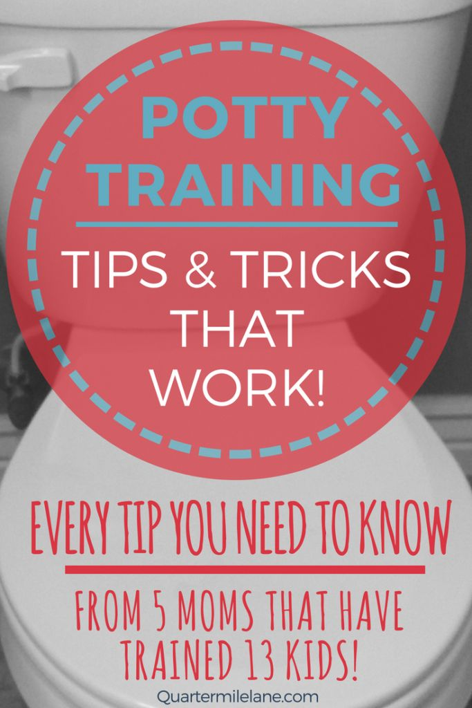 Potty Training tips and trick that absolutely work! The best tips from 5 moms that have potty trained 13 kids! These are the potty training tips you need to know! #pottytraining #toddlers #momhacks