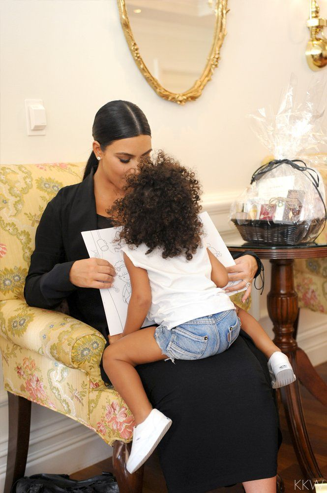 Kim Kardashian and North West. One of the most famous and successful business women and celebs on the planet. Married to Kanye West (Yeezy), and mother to baby North. Keep Up with the Kardashians