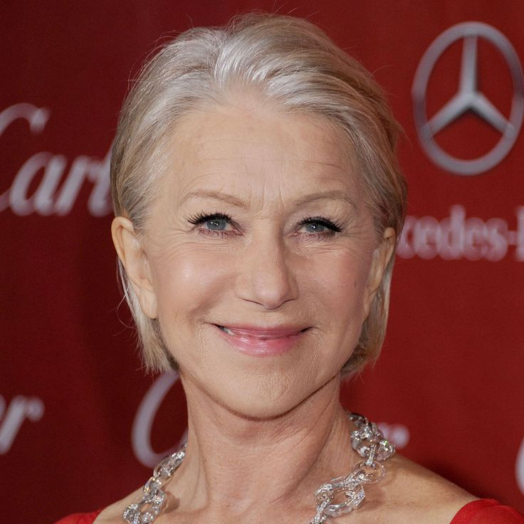 Helen Mirren Never failing to look gorgeously glam, Helen Mirren has embraced her age effortlessly. Her soft silver locks always look sleekly groomed, with a healthy and glossy shine. There's a subtle, blonde glow to Helen's head-turning hue that gives her look a grown-up, glamorous edge.  Take a tip To give grey hair a light-reflecting shine, add a spritz of shine-enhancing hairspray, such as ProVoke Touch of Silver Glamour Hairspray, to keep styles firmly held in place and to add an…