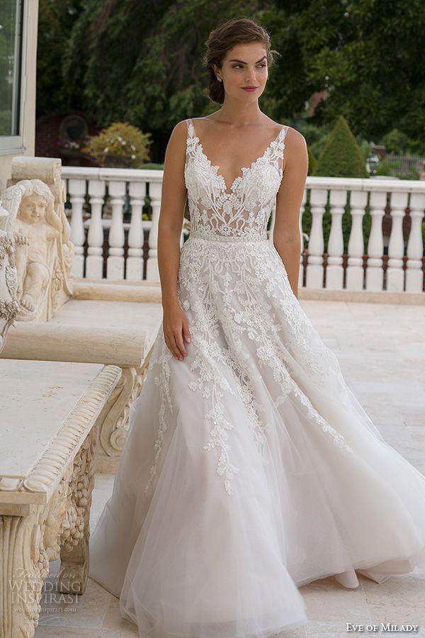 Vorabend von milady boutique frühling 2016 # bridal v ausschnitt #lace bestickte mieder