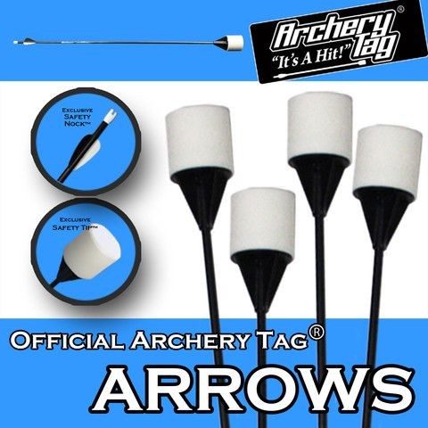 lol, i think you get to shoot people  Archery Tag® Arrows Archery Tag - It's a Hit! 1-855-694-6784.  Great Christmas gift.
