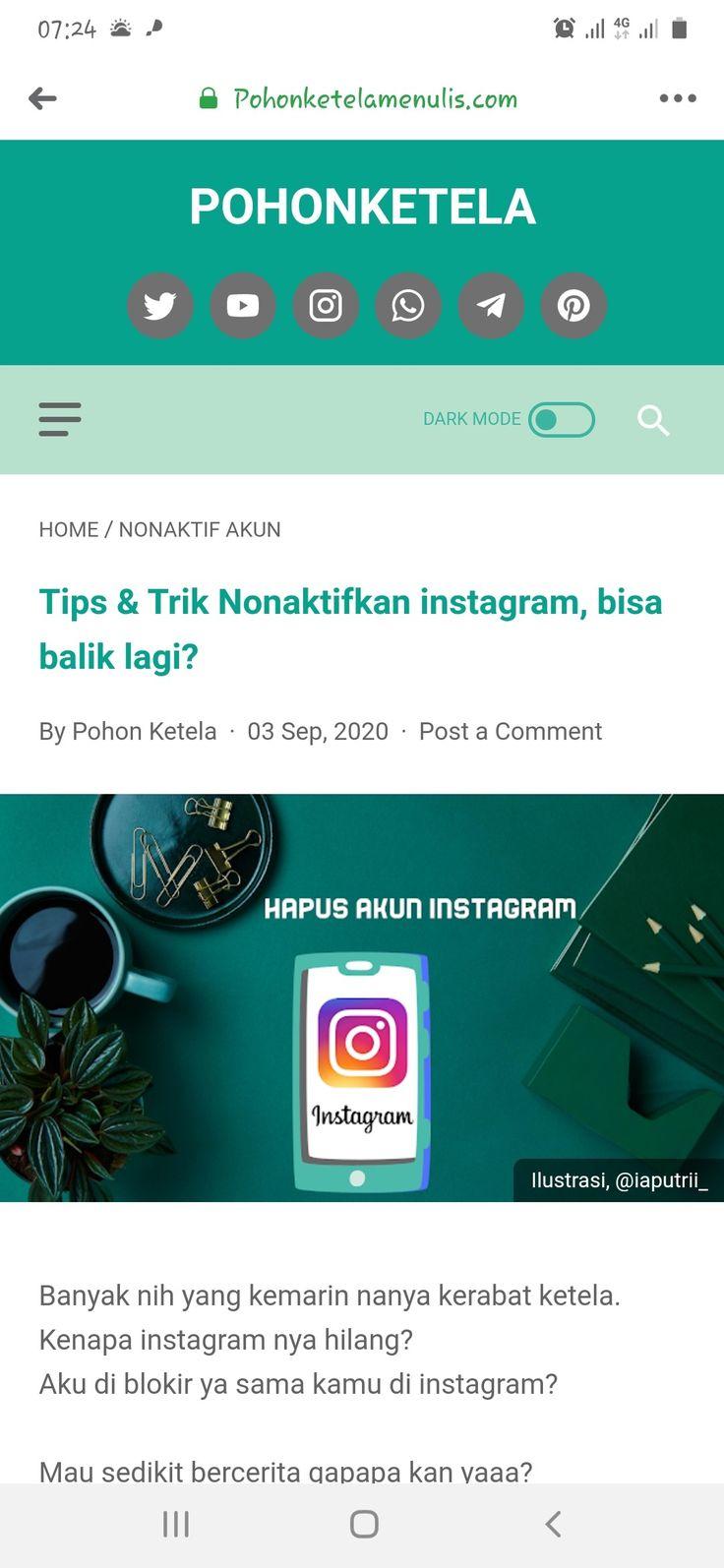 Cara Menonaktifkan Akun Instagram Instagram Tips Blog
