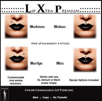 ::BW:: Lip Xtra Premium [Upper Lip Studs] (wear me)
