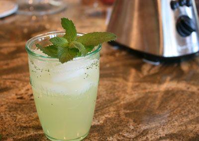 Recipe for Mint Lemonade:    4 cups water  2 1/2 cups fresh squeezed lemon juice (8-10 lemons)  1/4 cup finely diced mint  1 cup sugar