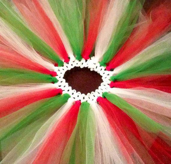 Italian Flag - Green White Red Tutu on Etsy, $16.00