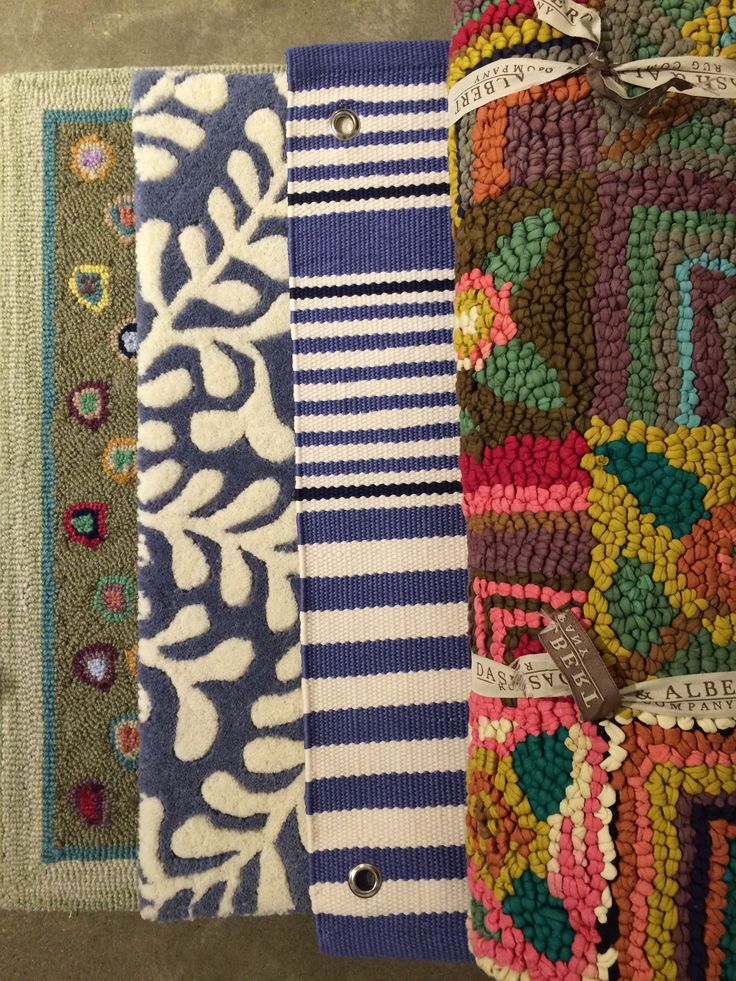 Some colorful rug options from our new Dash & Albert line. www.augusthaven.com