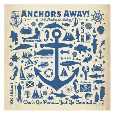 Anchor Pattern Square Posters tekijänä Anderson Design Group AllPosters.fi-sivustossa