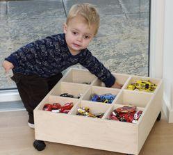Opbevaring til legetøj.
