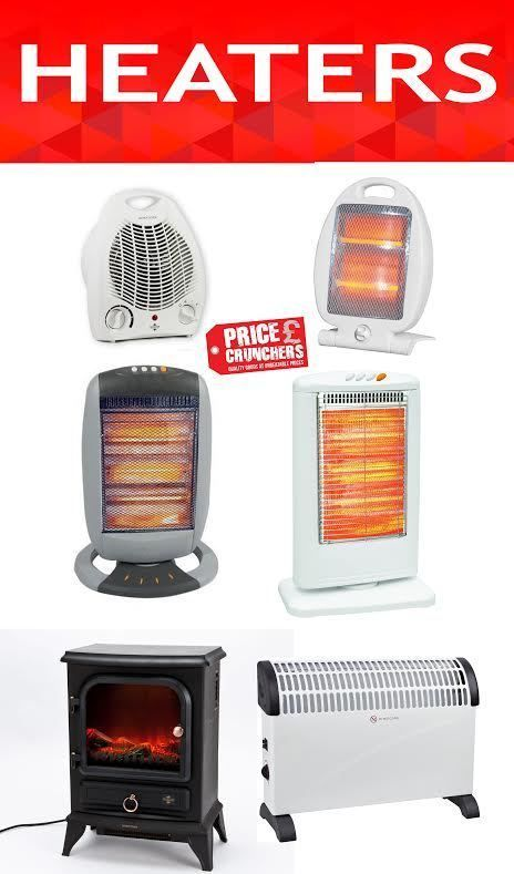 Electric Fan Halogen Convector Heaters Oscillating Home Room Space Garage  Small #Highlands