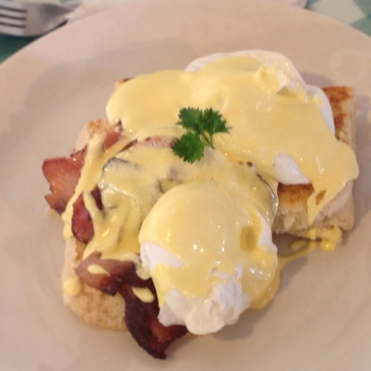 Eggs Benedict. The best in Auckland, according to our customers!
