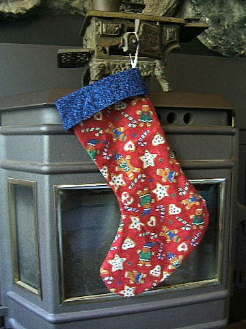 Christmas Stocking Gingerbread Cookie Stocking by QuiltedPleasures, $20.00