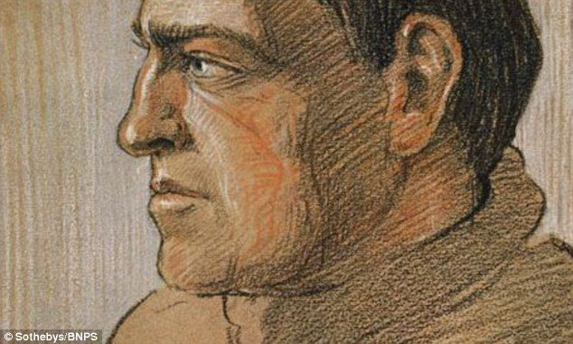 """A sketch of Ernest Shackleton from """"Aurora Australis,"""" the first book published in Antarctica. Shackleton and team made the book in 1908 during the Nimrod Expedition."""