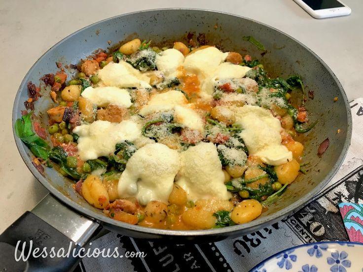 Nieuwe recept: Gnocchi met spinazie en worst