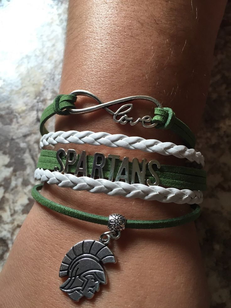 MSU spartans sports bracelets sports  sparty college msu spartans jewelry