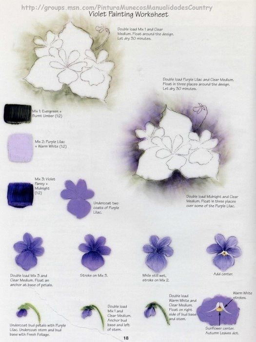 17 best images about one stroke painting on pinterest for Painting flowers in acrylic step by step