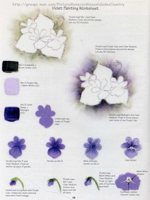 Violet step sheet by Priscilla Hauser.