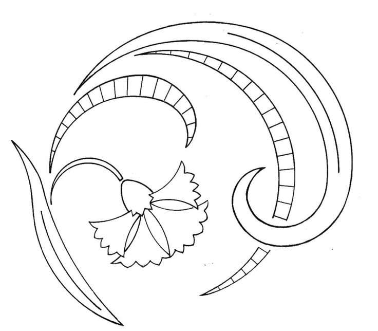 cutwork style - embroidery pattern