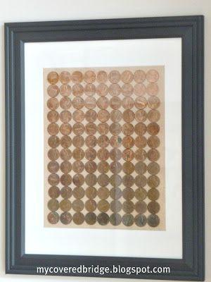 My Covered Bridge: Ombre Penny Art