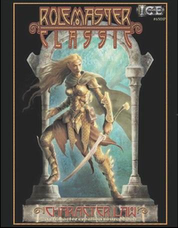 Product Line: Rolemaster  Product Edition: RMC  Product Name: Character Law  Product Type: RPG Rules  Author: ICE  Stock #: 6501  ISBN: 1-55806-619-5  Publisher: ICE  Cover Price: $30.00  Page Count: 168  Format: Softcover  Release Date: 05-Dec-06  Language: English