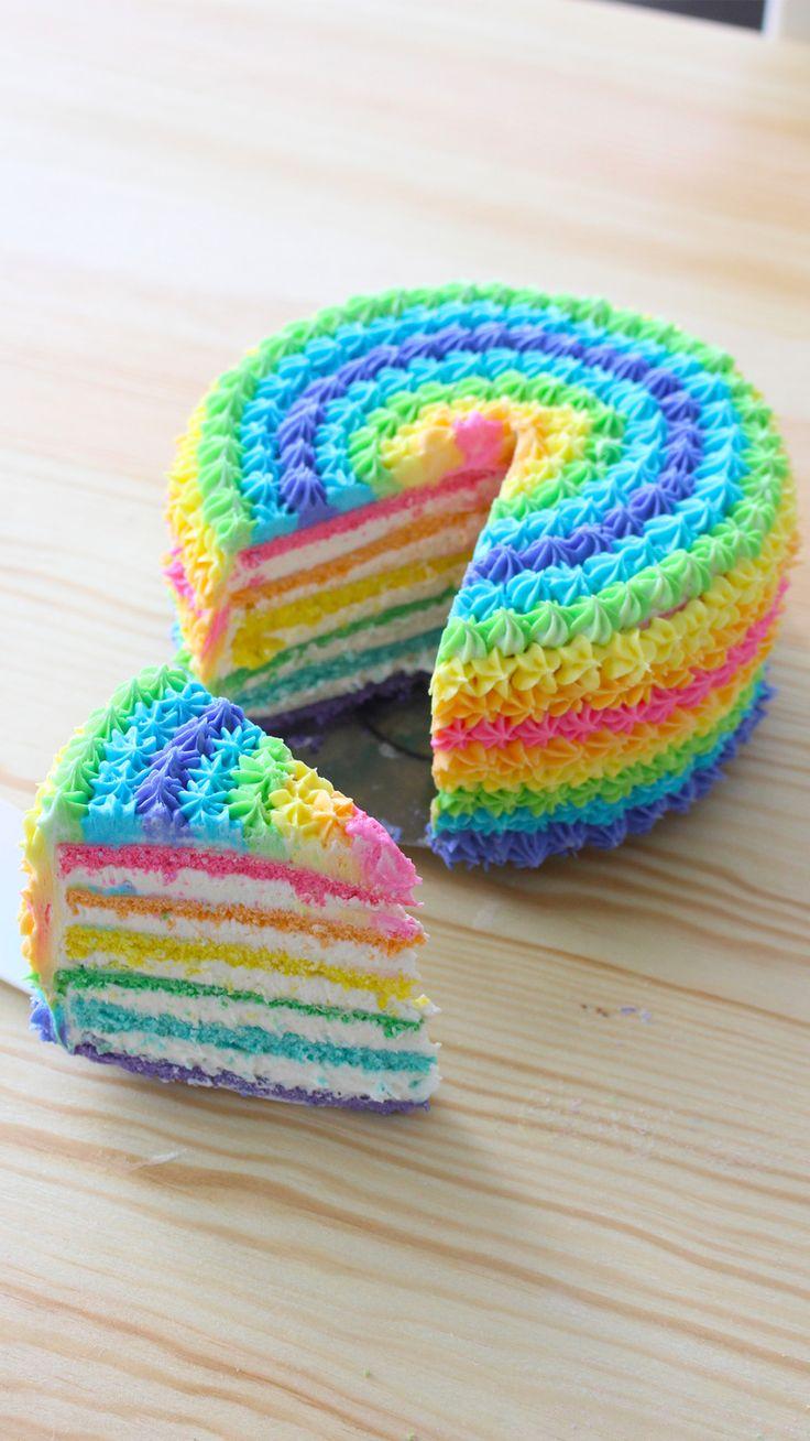 Rainbow Cake Artinya : Rainbow Cake Recipe Celebrations, Cake and Rainbow cakes