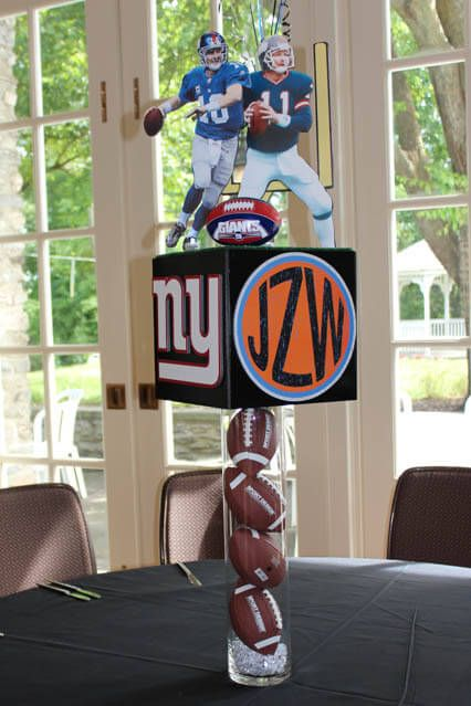 Sports Themed Centerpieces - Sports Themed Photo Cube Centerpiece