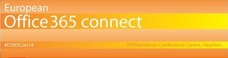 European Office 365 Connect Conference on 1-2 Apr'14 from 9:00 am - 5:00 pm at Philharmonie Haarlem, Lange Begijnestraat 11, Haarlem, 2011 HH, Netherlands. Category: Conferences. Price: Early Bird: €499 Full Price: €599 Super Early Bird: €399. Join some of the very best Microsoft and independent Office 365 speakers and learn how Microsoft Office 365 delivers the power of social collaboration, e-mail, and Unified Communications. Booking: http://atnd.it/3157-1