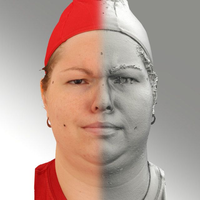 3D Head Scan Of Angry Emotion   Misa