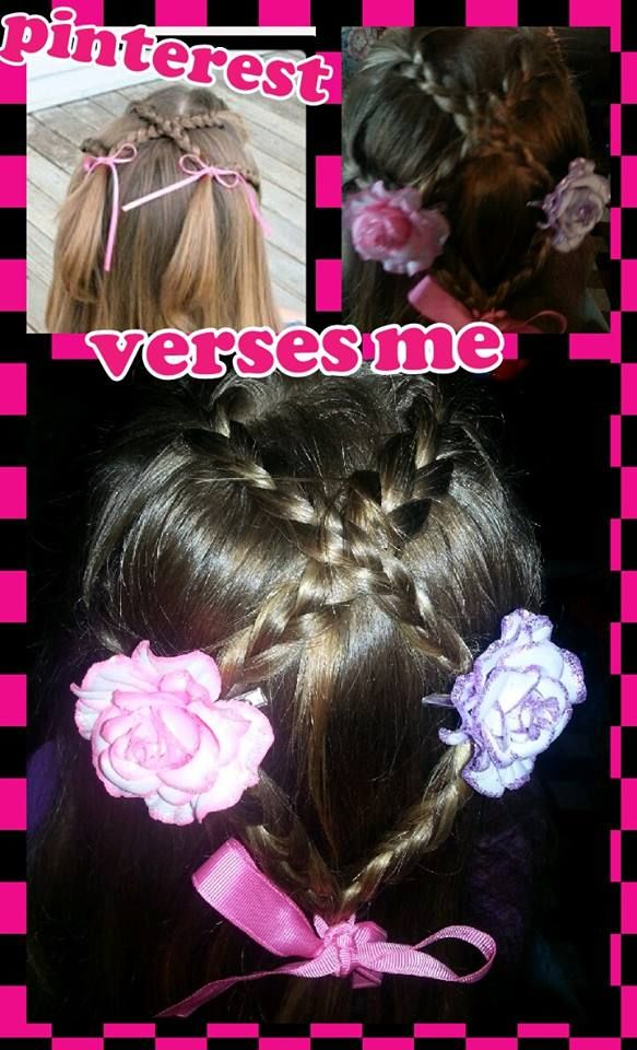 Cute easy hair http://www.pinterest.com/dawsonmom2/my-tries/ Linked to site I used as inspiration
