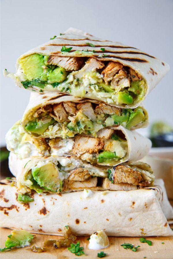How To Make Chicken And Avocado Burritos Avocado Recipes Wrap Recipes Mexican Food Recipes
