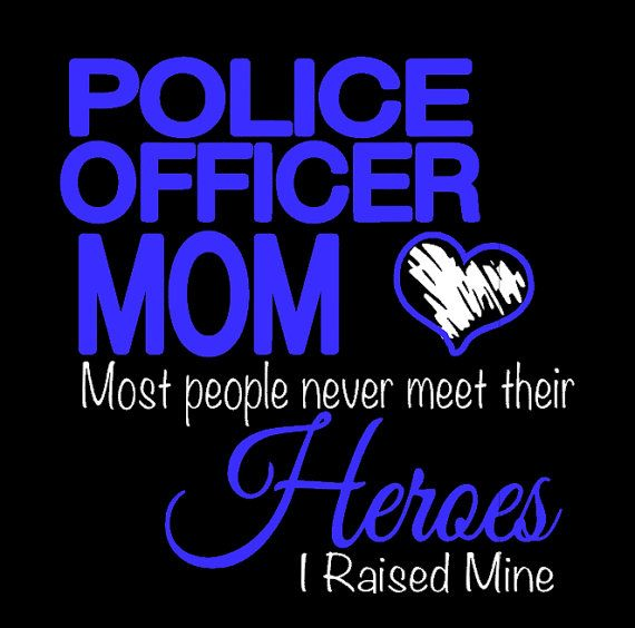 Police officer mom T-shirt by Crazyaboutshirts on Etsy $17.50