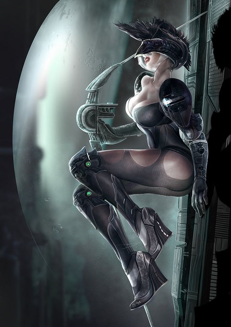 Hi people, Why don't I have one of those seductive space chicks (with a dumb-sexy pointless face) in my portfolio. Just for fun, hope you like it. Cheers Ertaç Photoshop CS3 Wacom Cintiq 12WX Appro...