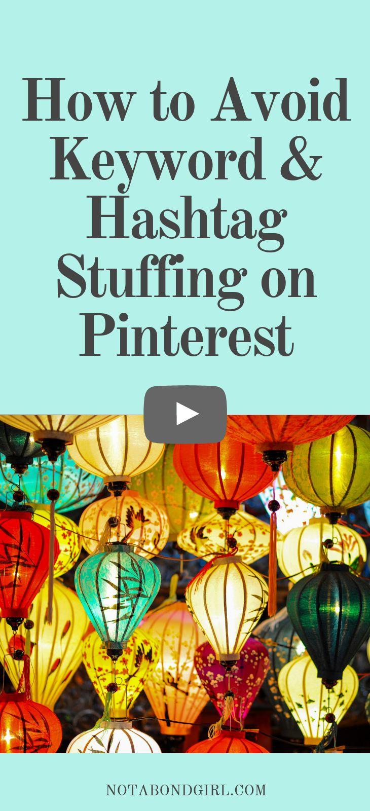 So vermeiden Sie Keyword & Hashtag Stuffing auf Pinterest